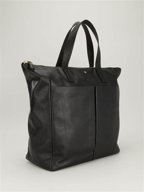 Anya Hindmarch Large Nevis Tote by Anya Hindmarch Nevis Tote In Black Lyst