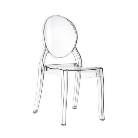 chaise en plexiglas chaise de style en polycarbonate transparent elizabeth