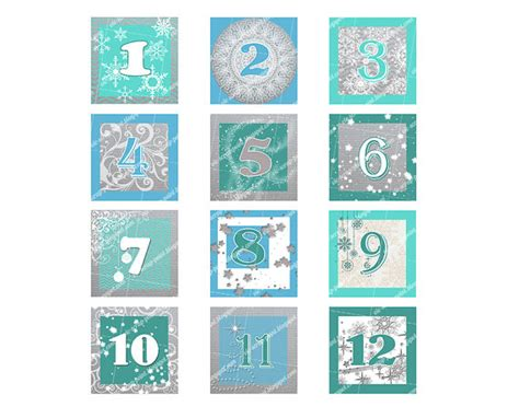 printable december calendar pieces printable december daily numbers squares 2 1 5 or 1 by