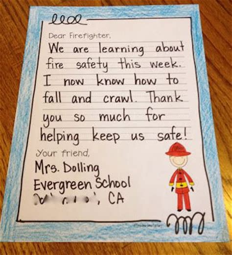 thank you letter to montessori safety week thank you letter to local firefighters