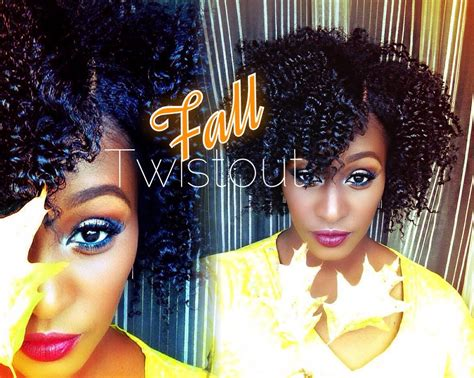 the perfect fall twist out on short medium length 4b