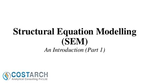 Structural Equation Modelling Sem structural equation modelling sem part 1