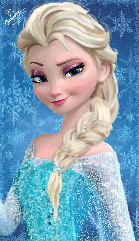 elsa painting elsa painting by ellwell on deviantart