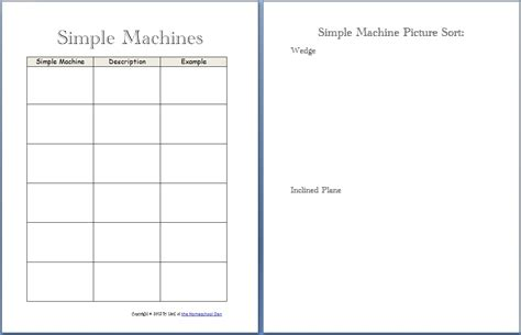 Simple Machines Worksheet by Simple Machine Packet About 30 Pages Homeschool Den