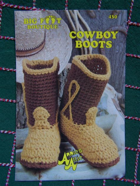 cowboy boot house shoes annie s crafts free patterns