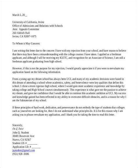 college rejection letters premium templates
