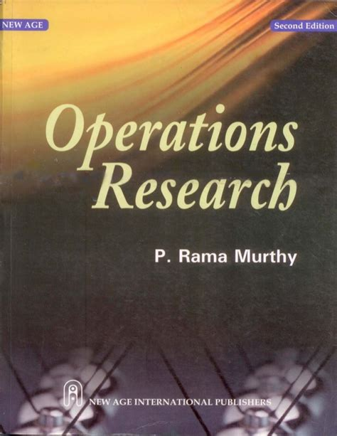 Operation Research Pdf Books For Mba by Operation Research