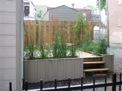 Planter Wall Tiles by Planter Box Designs With Nyc Deck And Brown