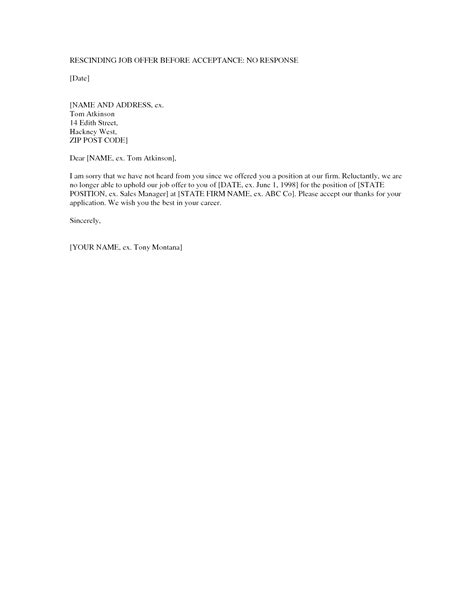letter to accept a job offer