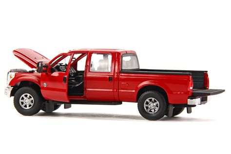 truck bed cab ford f250 pickup truck w crew cab 6ft bed red chrome