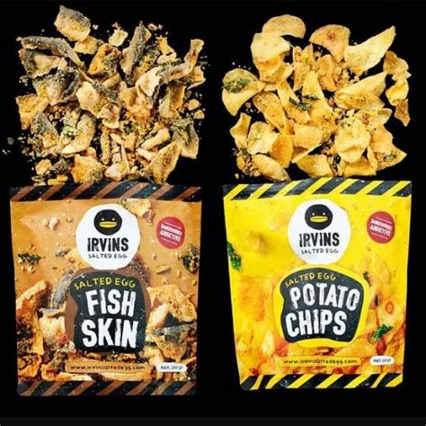 Irvins Salted Egg 105 Gr ready stocks irvins salted egg fish skin and potato chips