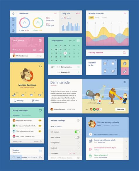 unity folder layout free psd ui kit by studio unity