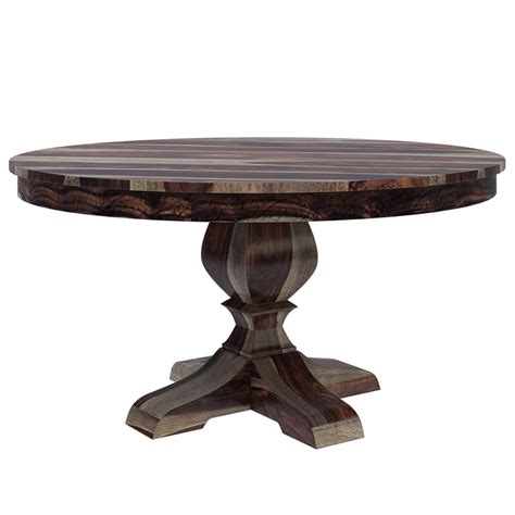 Dining Table Pedestal Hosford Handcrafted Solid Wood 60 Quot Pedestal Dining Table