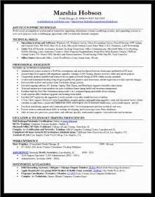 Computer Technician Resume Template by Computer Technician Resume Sle Pdf Document