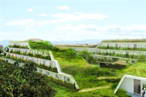 architecture s terraced green roofed apartments to add
