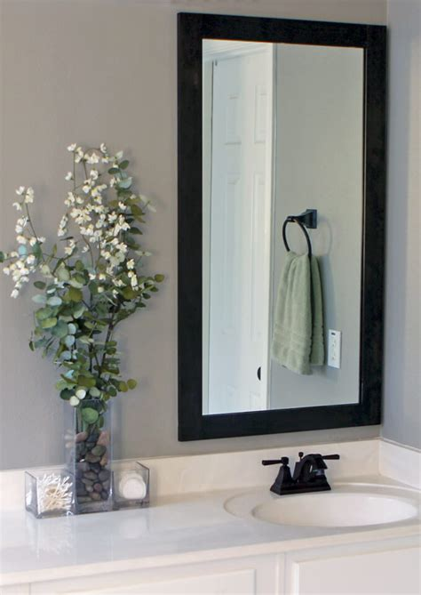 how to hang a framed bathroom mirror how to frame bathroom mirrors gray house studio