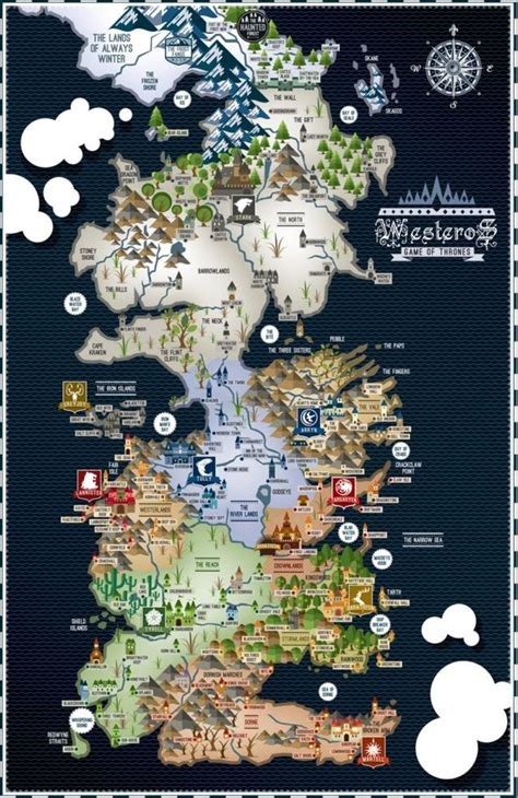 Map Layout For Game Of Thrones | game of thrones westeros map 17 215 11 poster game of