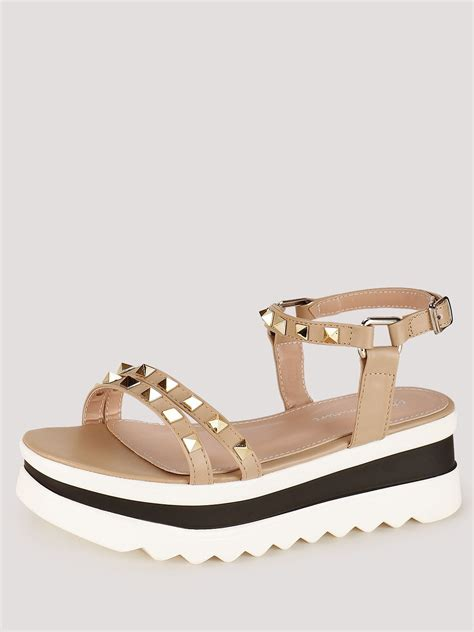 couture sandals buy my foot couture studded chunky soled sandals for