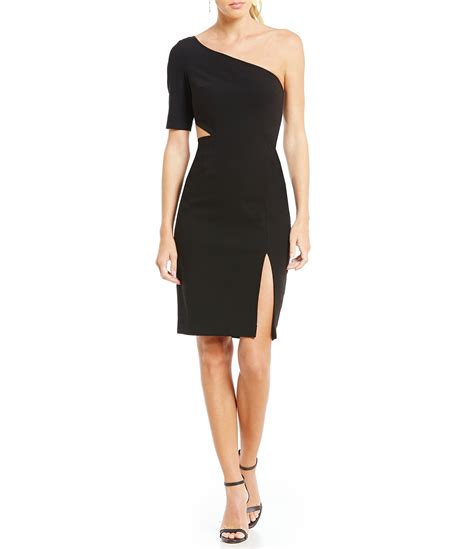 stuart one shoulder cut out sheath dress dillards
