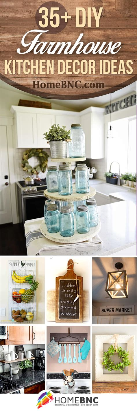 diy kitchen decor ideas 35 best diy farmhouse kitchen decor projects and ideas