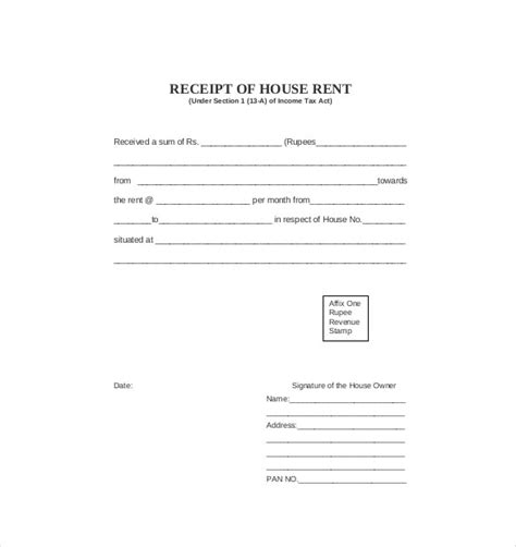 commercial rent receipt template 35 rental receipt templates doc pdf excel free