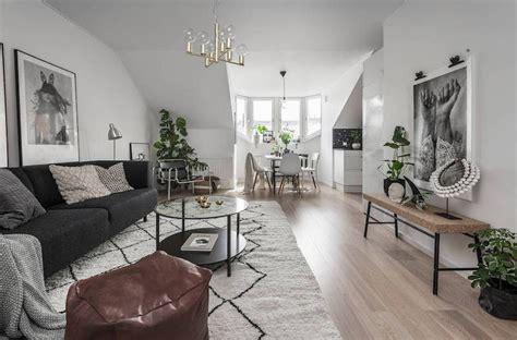 earthy living room ideas earthy interior design of a compact scandinavian apartment