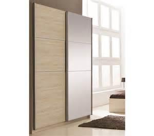 armoire 2 portes coulissantes glassy imitation ch 234 ne