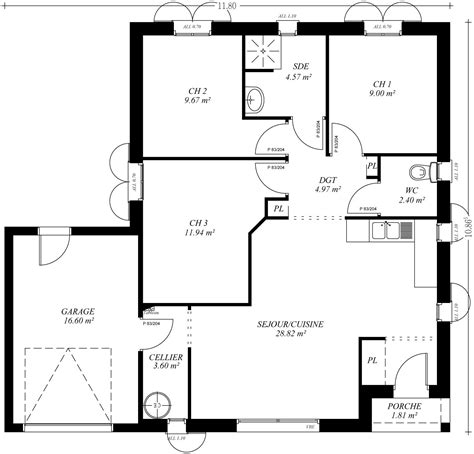 plan maison patio central plan maison plain pied avec patio central 1 plans
