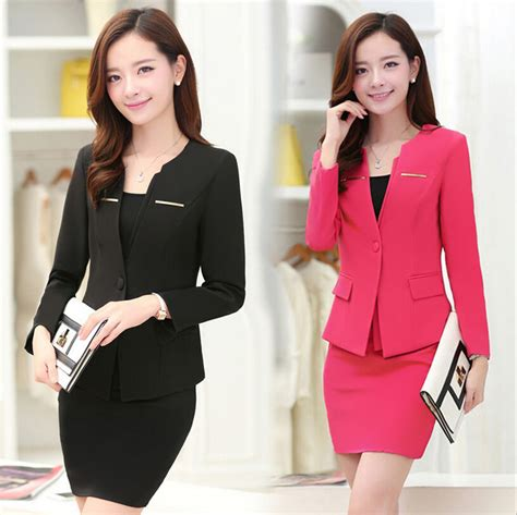 Executive Suits For Working Women 2015 | 2015 executive office lady skirt overalls receptionist