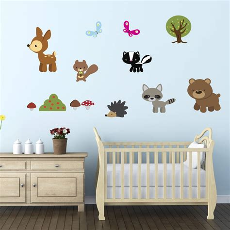 woodland wall stickers woodland animals fabric wall stickers by mirrorin