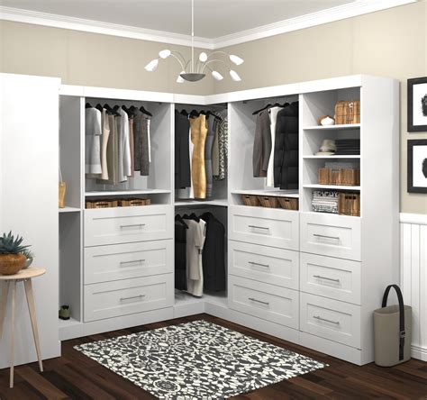 L Shaped Wardrobes by White 100 Quot Optimum L Shaped Wardrobe