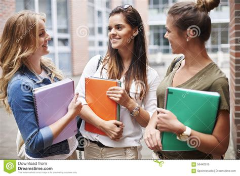 How To Make Students Feel Comfortable In The Classroom by Busy Students On Cus Stock Photo Image 56442515