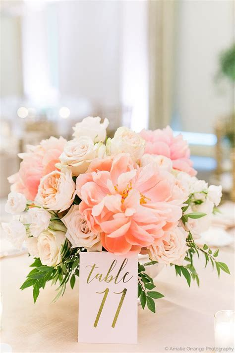 Wedding Table Flower Arrangements by A Lush Time Wedding Table Arrangement Of Faded