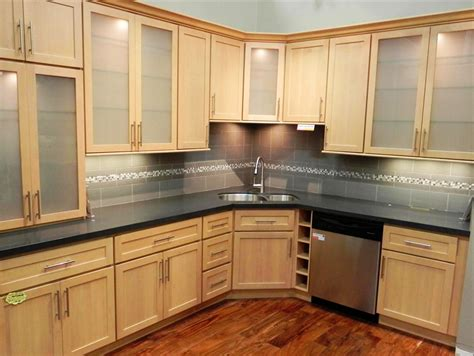 honey maple kitchen cabinets storage design
