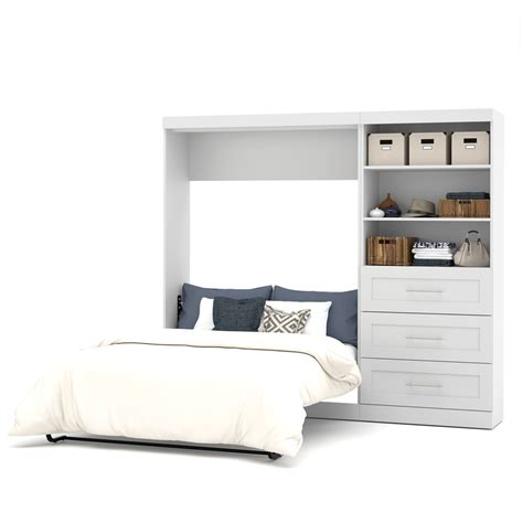 full wall bed pur 95 quot full wall bed kit in white