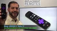 SHARP LCRCRUS17 Roku TV Remote Control - www.ReplacementRemotes.com