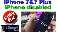 iPhone 7 and 7 plus Disabled easy fix