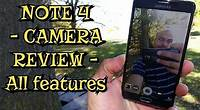 Samsung Galaxy Note 4 - Camera Review All Features