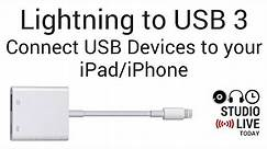 How to use a LIGHTNING TO USB 3 adapter (iPhone/iPad)