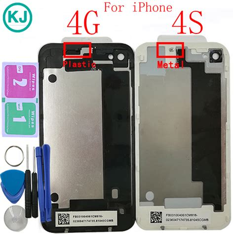 for 4 4g back housing glass back battery cover with .