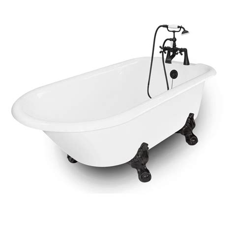 american bath factory 67-In white acrylic clawfoot .