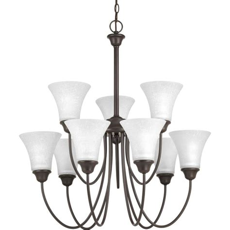 progress lighting tally 30-In 9-Light antique bronze .