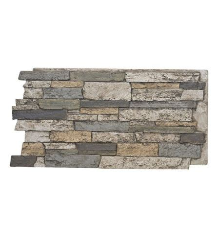 141- colorado- wide stacked stone design wall panel 48 w .