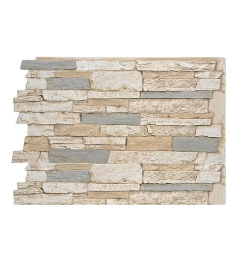 141- wide stacked stone design wall panel 48 w x 24 h x 1  d.