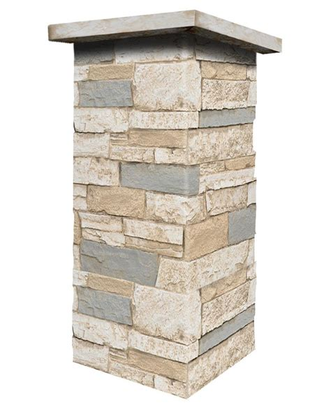 141-36 colorado - wide stacked stone design wall panel 48 .
