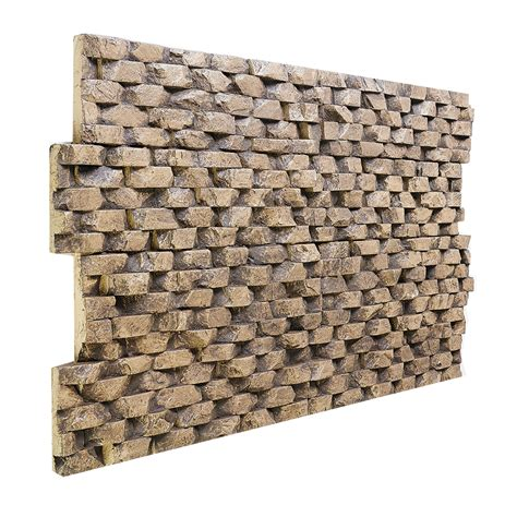 181- stone basket weave wall panel 47 h x 24 w x 1 1 4 d.