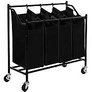 2018 best 4 bag laundry sorter cart reviews - finderists.