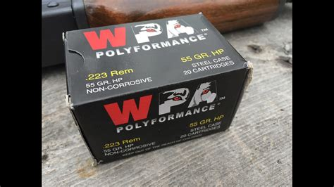 223 remington 55gr hp wolf polyformance velocity and gel test.