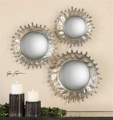 3 piece wide silver accent mirror set set of 3 by .