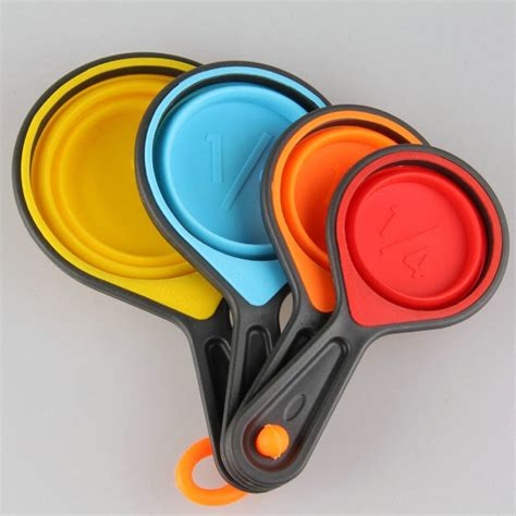 amw 4pcs set silicone measuring cups and spoons baking .
